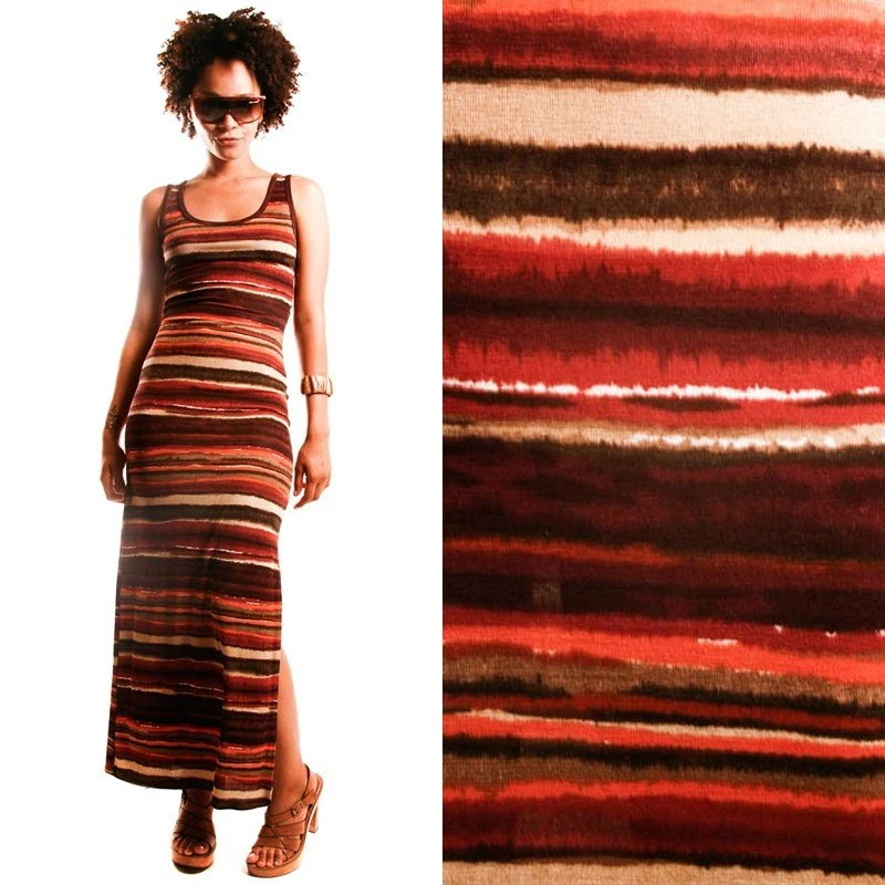90s Body Conforming Striped Stretchy DRESS, extra small