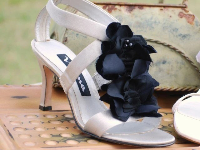 Ebony Ruffles Spat - Shoe Clip Set 2 by Sofisticata, Etsy handmade, Mom Night Out, Holidays Party Date Special Day, Sexy Sophisticated Black Tie Affair, Elegant Teen LBD, Spring Summer Fashion Custom Colors Ivory White Red, Fashionista, Statement Stylish