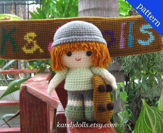 Kevvy the Skater - Amigurumi - PDF Crochet Pattern