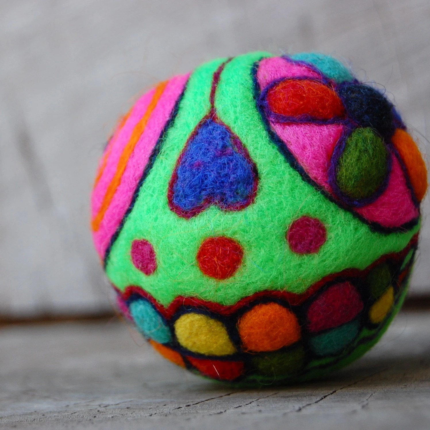 Day of The Dead Skull Rattle Ball WOOLY Toy