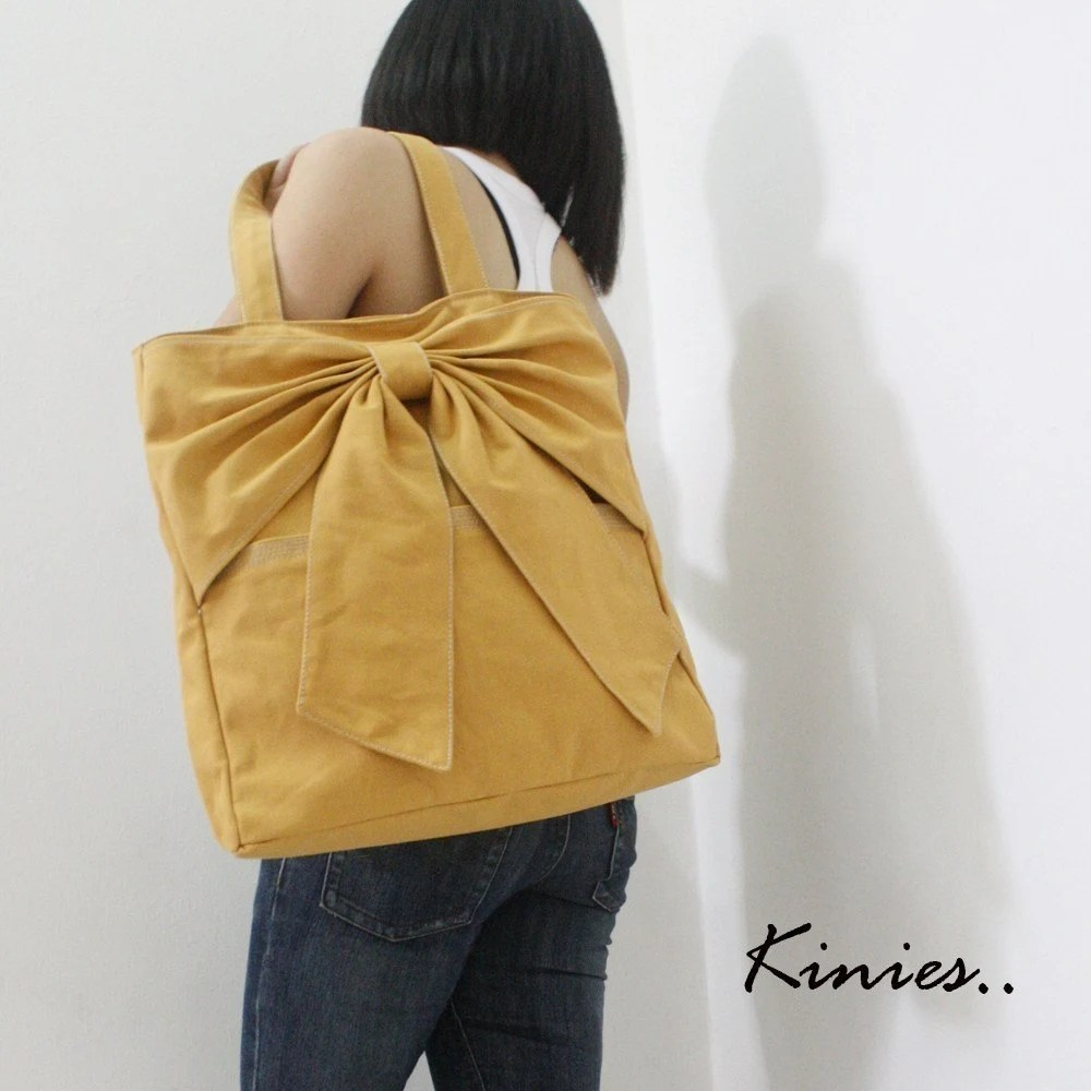 QT Canvas Tote in GOLDEN ROD