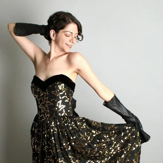 All That Glitters is Gold - Vintage NYE Holiday Party Dress