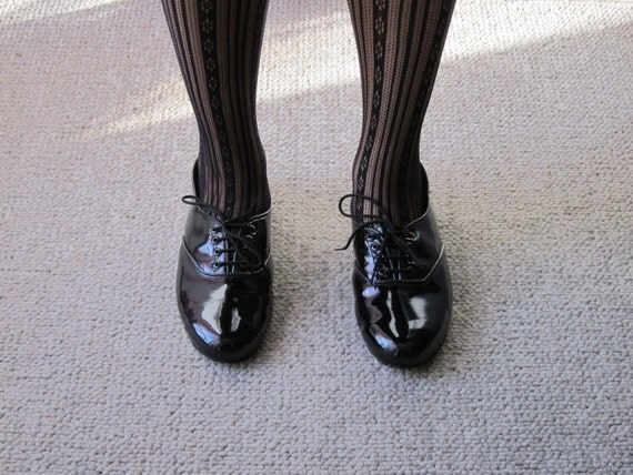 Patent leather oxfords flats