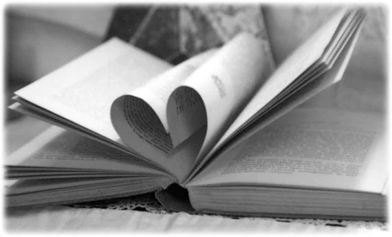 Book with a heart        Black & White Photograph