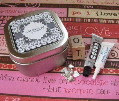 5 Scrabble Tile Pendants - DIY Kit