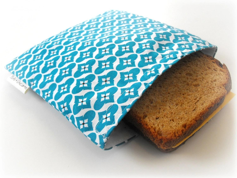 20%  off SALE--Coupon Code SPRINGFLING Ocean Reusable Sandwich Bag ,