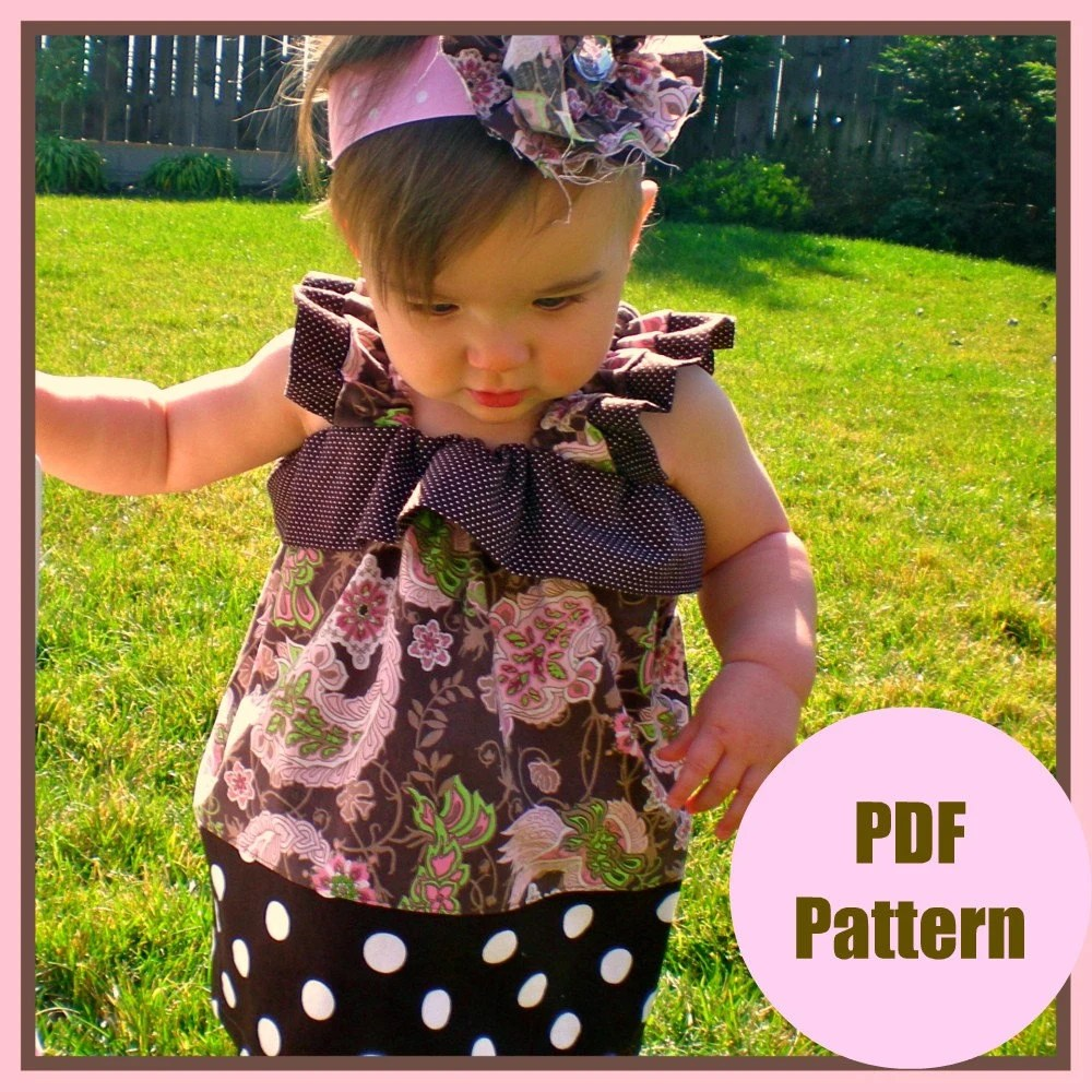 Dress Pattern PDF Sewing Pattern...The Hannah Dress...sizes 12m-5T, girls Baby toddler