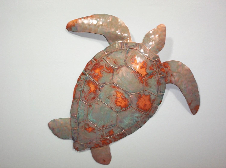 Sea Turtle Metal wall sculpture Tropical Beach Coastal