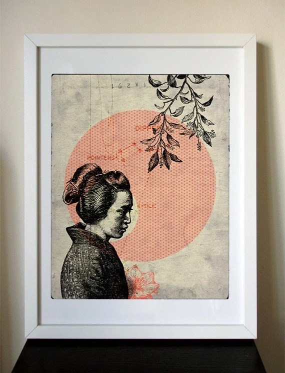 HELP JAPAN - 12x16 Japanese Girl giclee print
