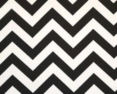 Decorative Designer Fabric-Black and White Zig Zag-1 yard