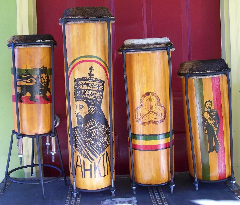 Custom nyabinghi drums
