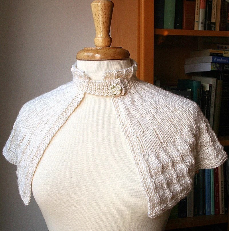 Custom Handmade Luxurious Knit Bridal Capelet - Paloma Shoulderette