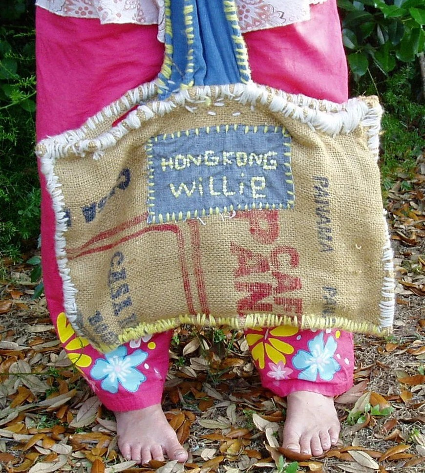 Hippie tote bag,Hippie Re-Use Purse