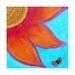 Monarch Butterfly  art print colorful abstract flower acid free hand cut white mat 11x14