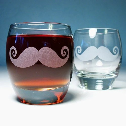 Mustache Rocks Glasses