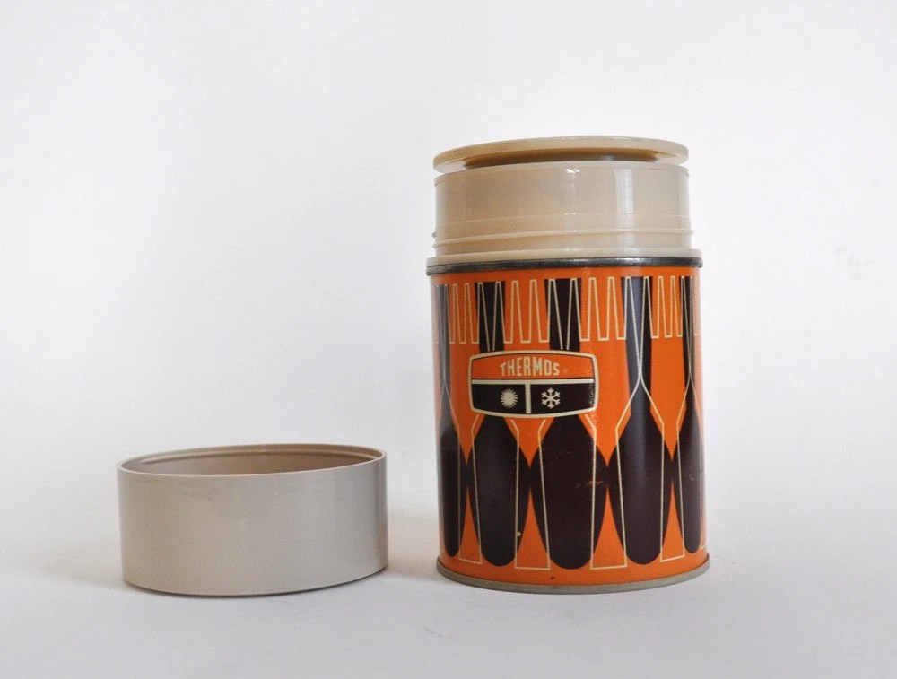 retro orange thermos