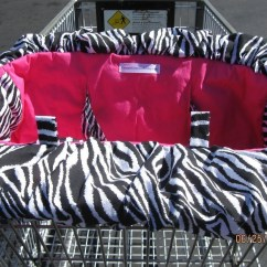 Zebra High Chair Bedroom Name And Hot Pink Shopping Cart Cover Andhigh Ebay