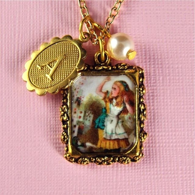 Alice in wonderland inspired jewellery, falling cards