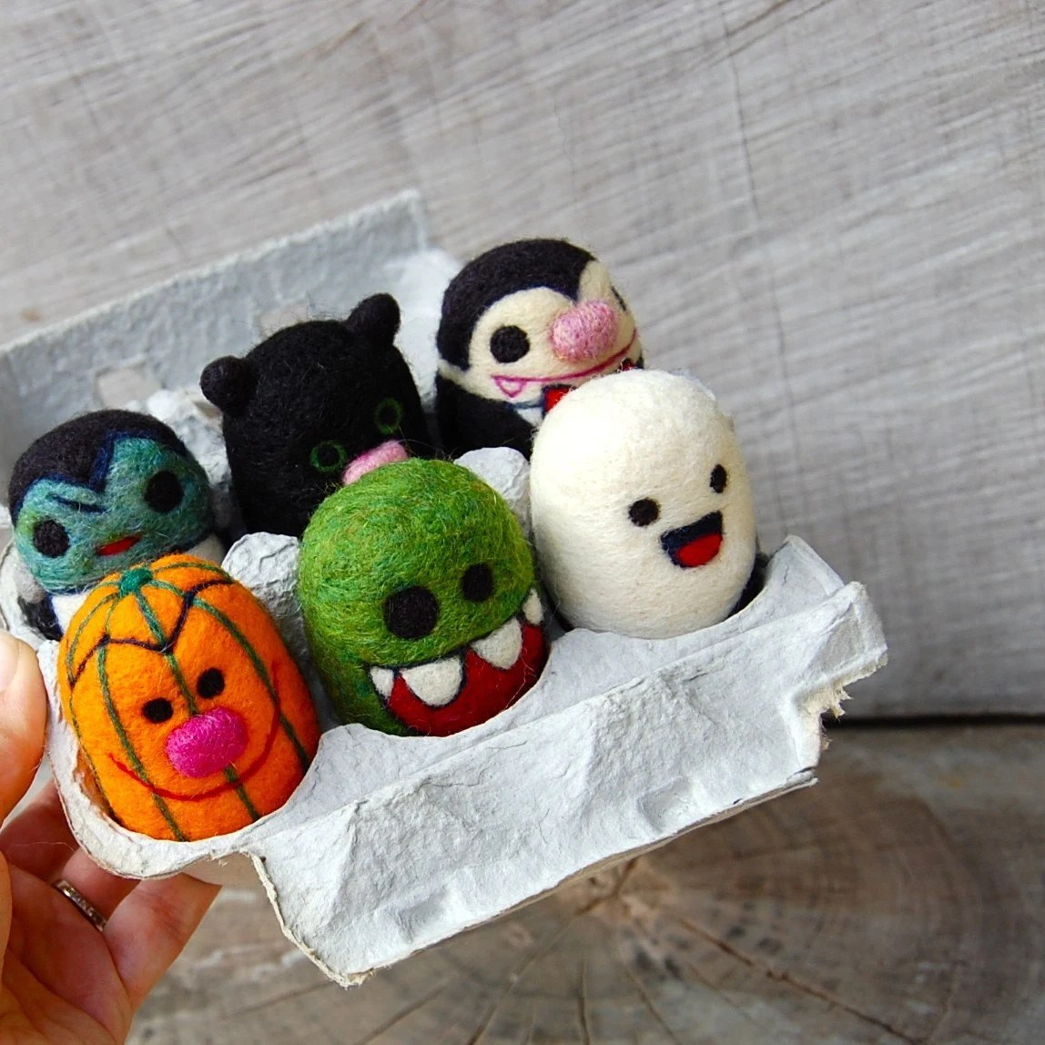 needle felting, halloween, wool toys Asherjasper