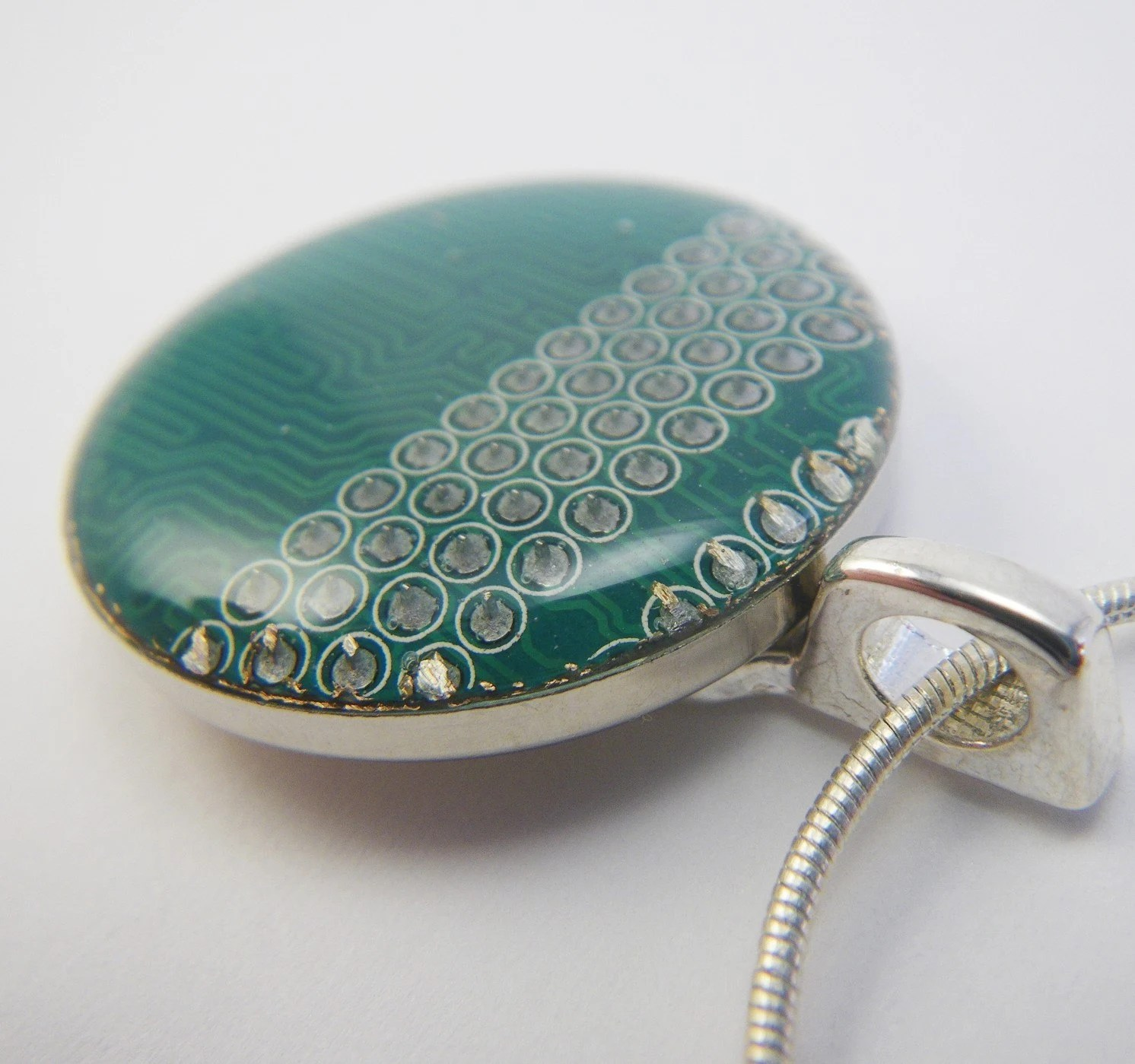 Recylced Circuit Board Necklace