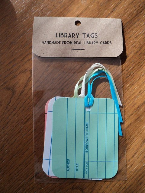 Library Card Gift Tags