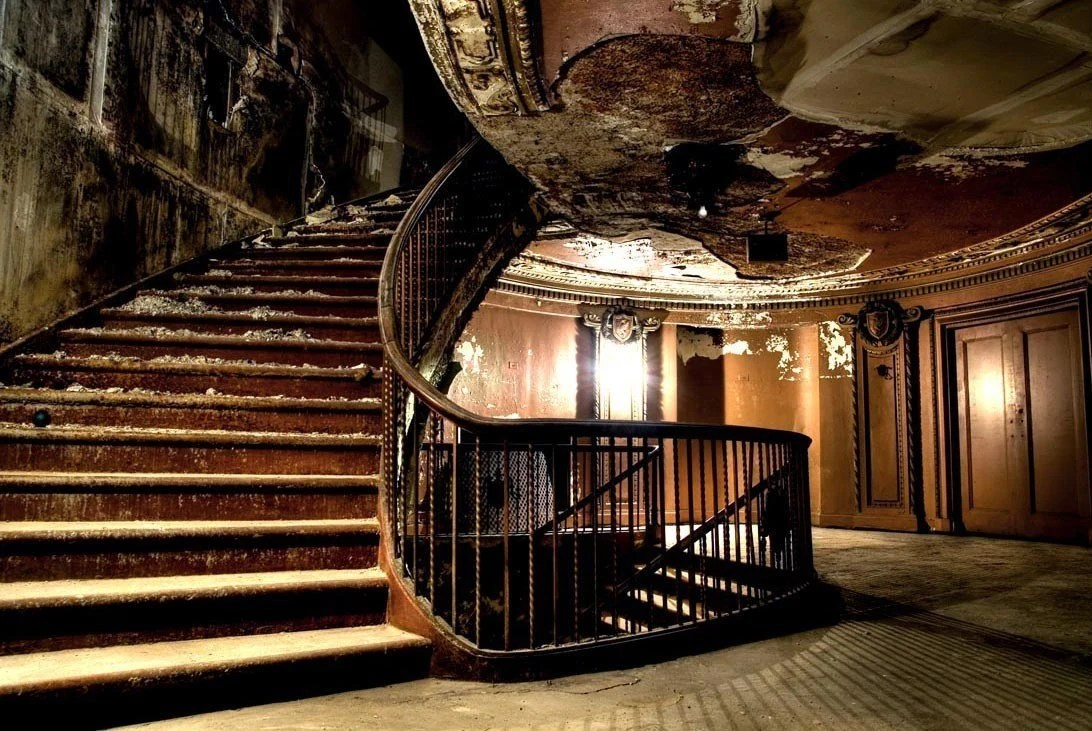 Back Stairs Elegance | Uptown Theater, Chicago