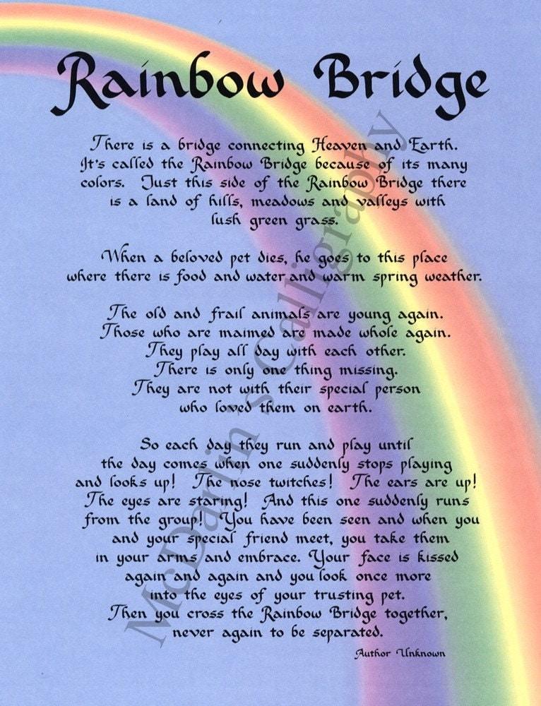 poem rainbow bridge for dogs Rainbow bridge rainbow