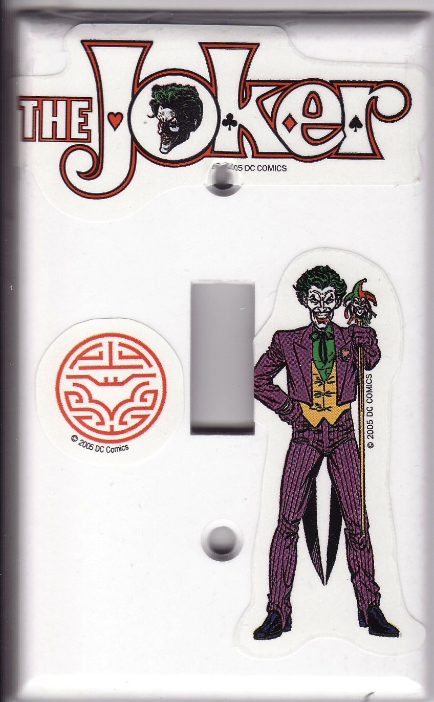 Joker Lightswitch Cover from HitTheLights