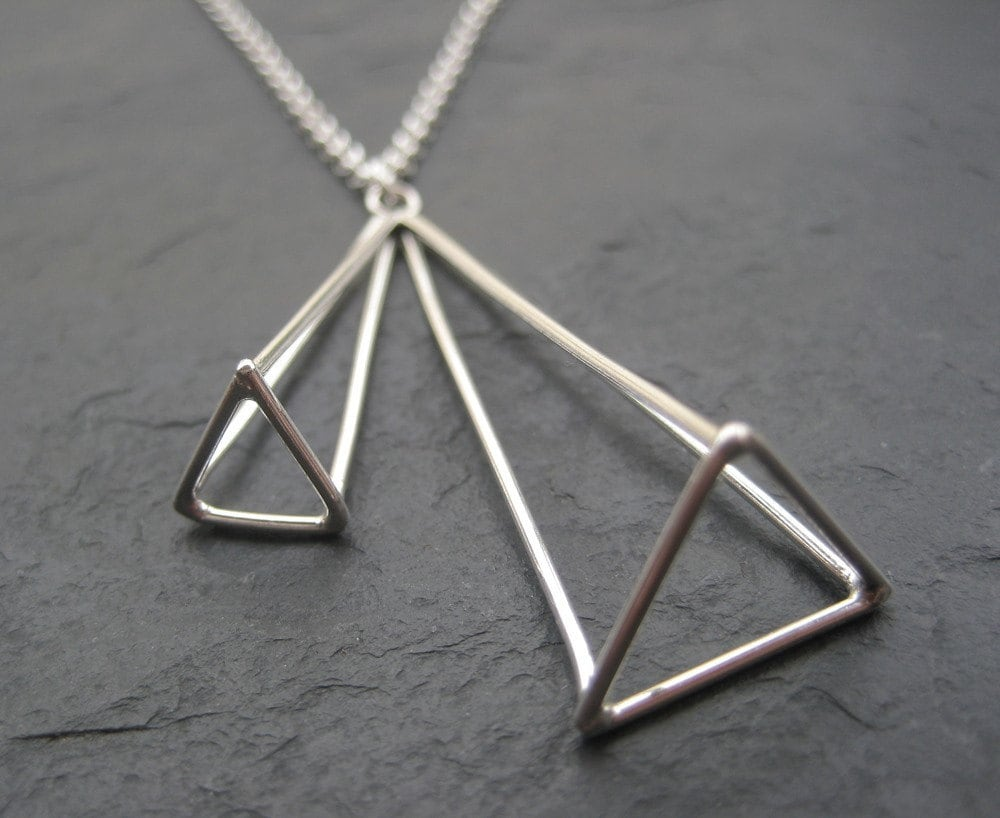 Double Pyramid Necklace