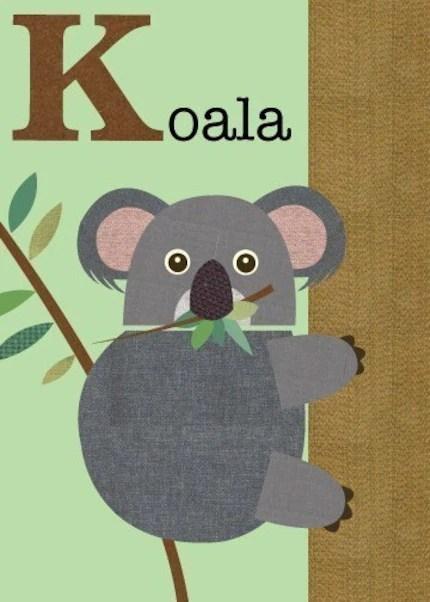 Letter k (koala)