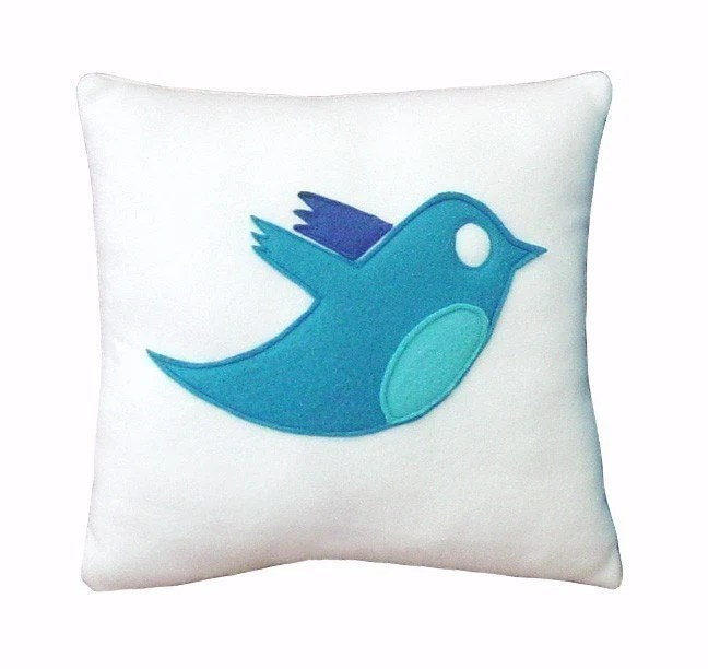 Twitter Bird Pillow
