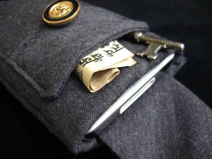 iPod Case Grey Wool Handmade Vintage Fabric iSockit Deluxe