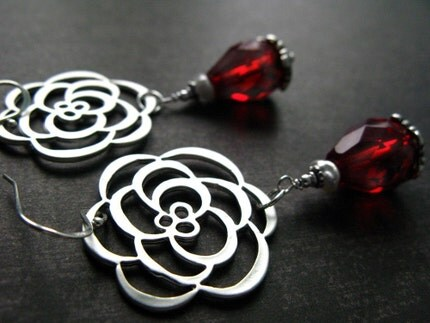 Cupid's Garden - Statement Earrings