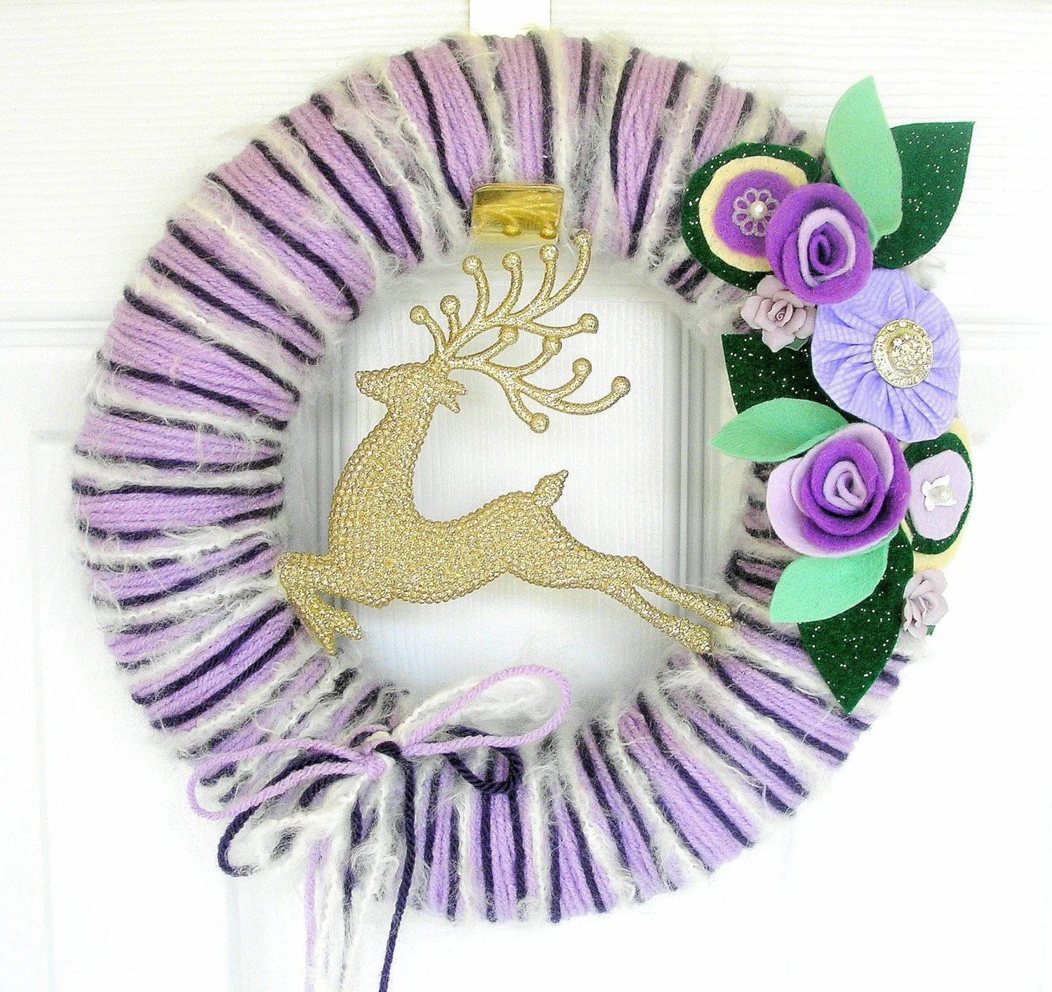 Violet Vixen Yarn Wreath
