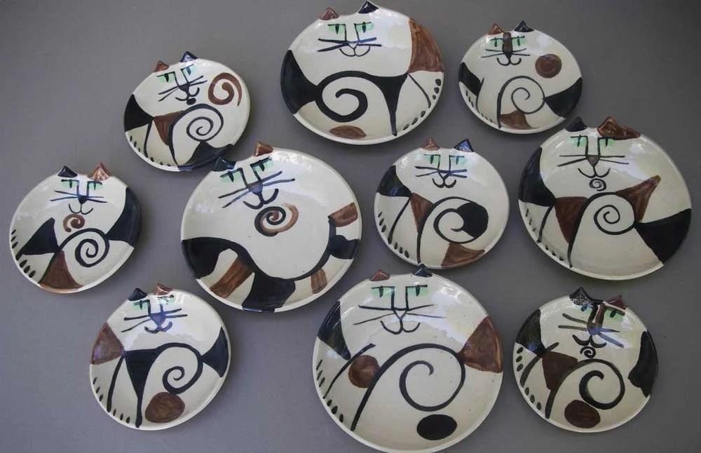 Calico Cat Plates