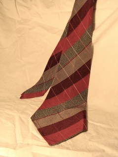Vintage Late 1930s Mens Austico Striped Necktie