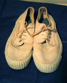 Vintage 1960s Simlam Canvas Sneakers Size 7
