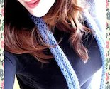Hand Knit Skinny Scarf w/ Knitted Flower Pin (Choose your own color)