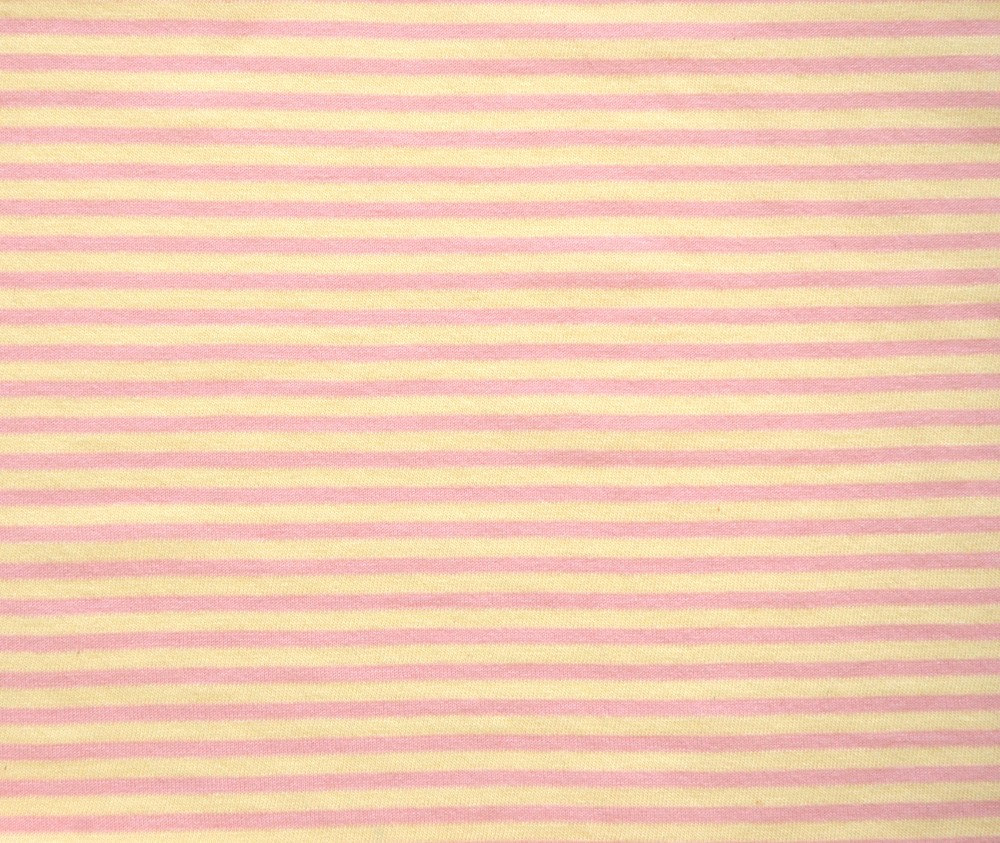 Organic Cotton Knit Jersey Fabric by the Yard in Blush Stripe