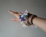 Fervor ... Freeform Beaded Crochet Cuff - Flowers