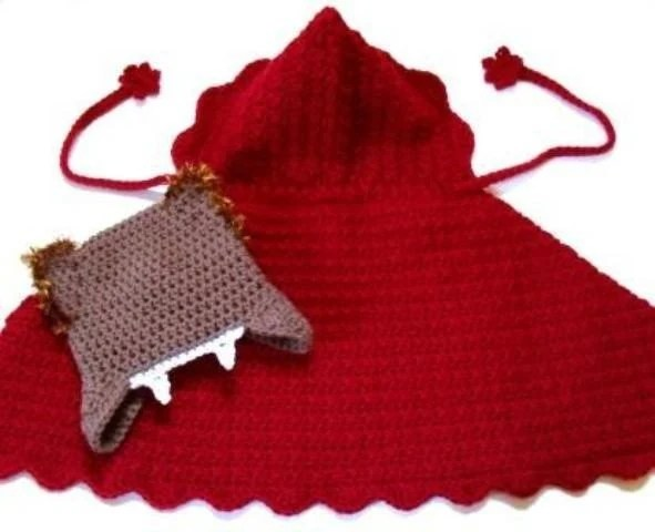 PDF  crochet pattern...little red riding hood and the big bad wolf