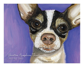 Chihuahua (on purple) print