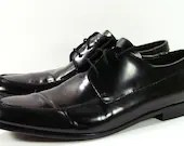 Donald J Pliner oxford shoes mens 12  D M black leather