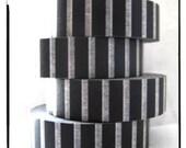 single piece of patterned masking tape -  zebra - black and white   stripes