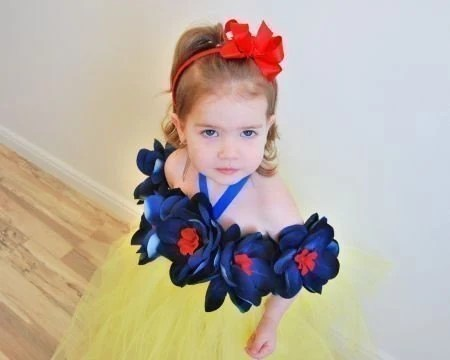 CUSTOM MADE TO ORDER...........18 INCH LENGTH.............The  ORIGINAL Snow White Inspired Tutu Dress Costume...NB 6M 12M 18M 2T 3T 4T  5T