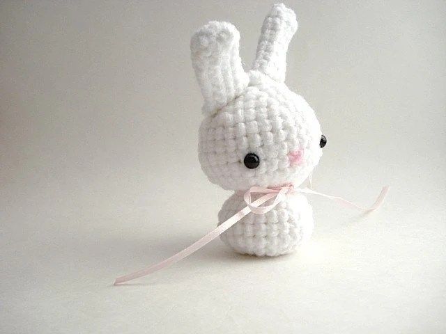 Susan G. Komen Moon Bun - Breast Cancer Awareness Charity Amigurumi Bunny Rabbit