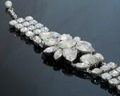 Statement Swarovski floral bracelet
