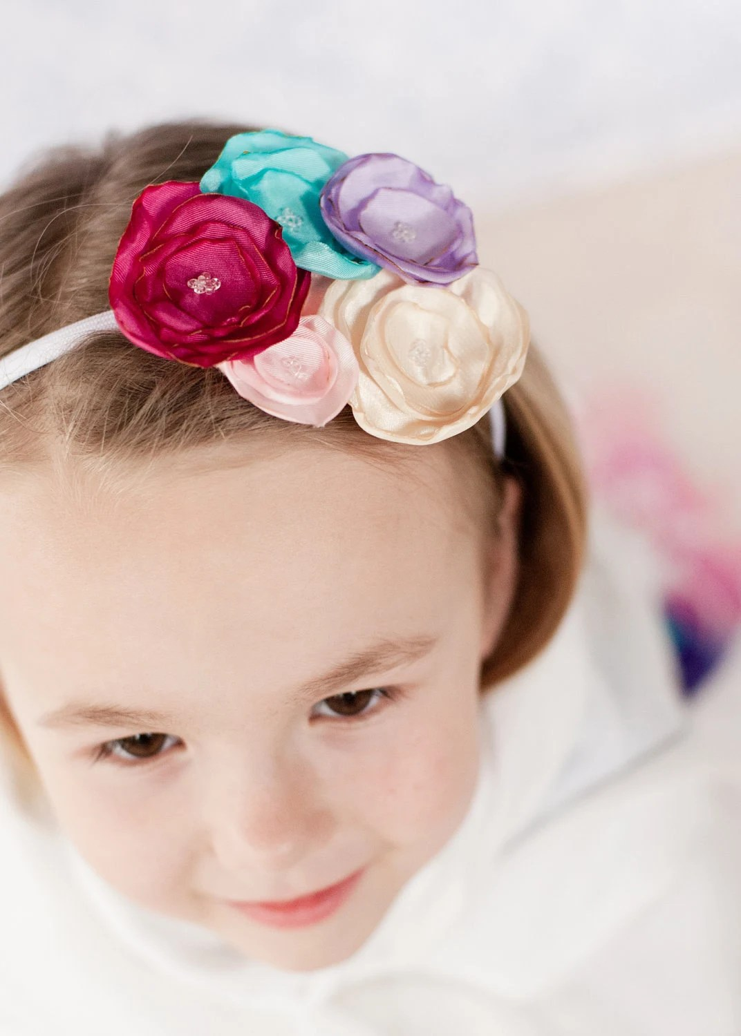 Handmade Flower Bouquet Headband