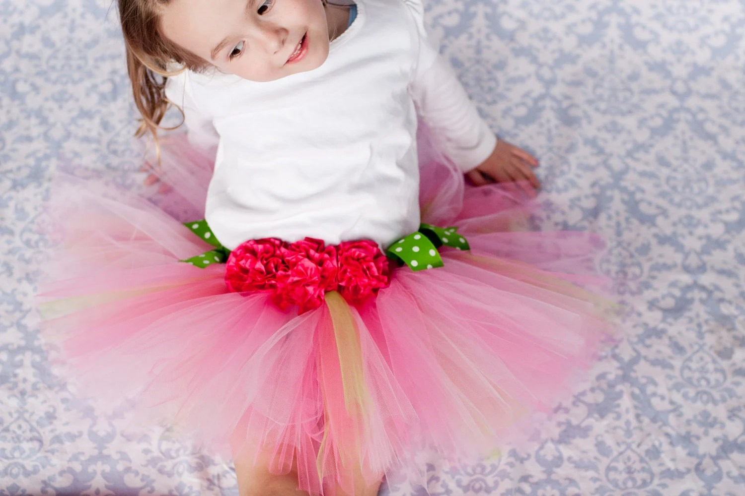 Pink Ribbon Flower tutu
