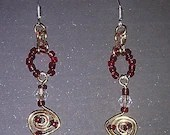 Unique Spiral beaded Earrings.
